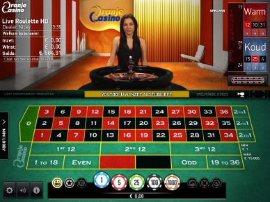 Live roulette spelen in HD